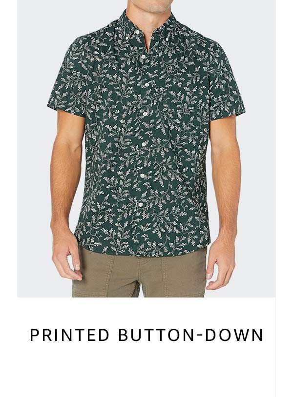 Printed button-down