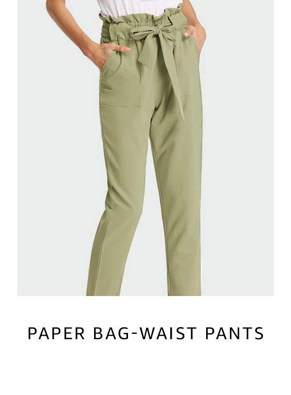 Paper bag-waist pants
