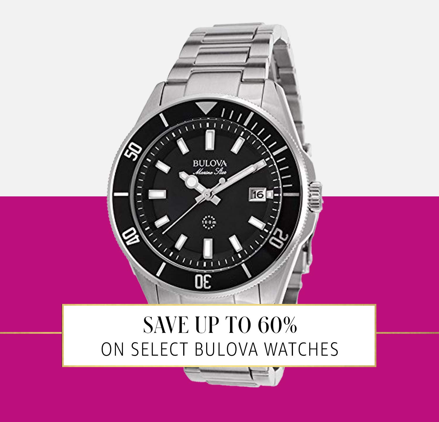 Up to 30% on Select Bulova Watches
