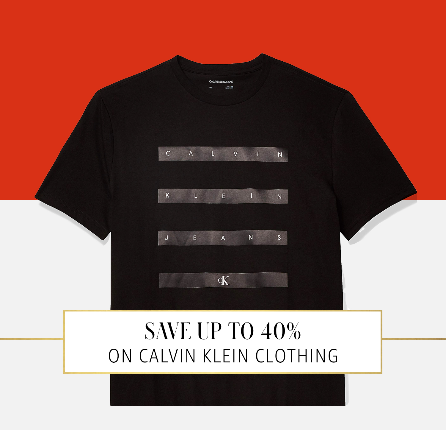 Up to 40% off apparel from Calvin Klein