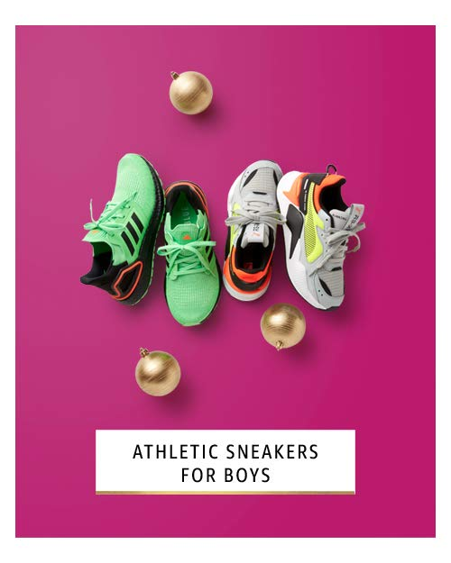 Athletic sneakers for boys