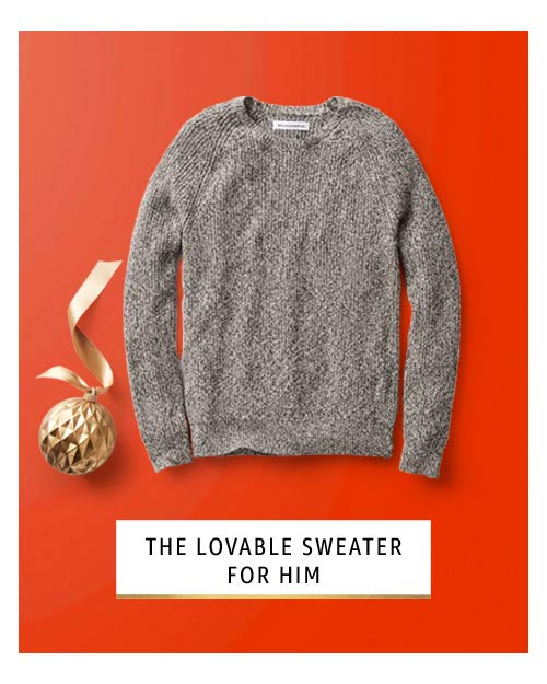 Lovable sweater for him