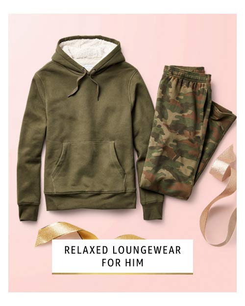 Relaxed loungewear for him