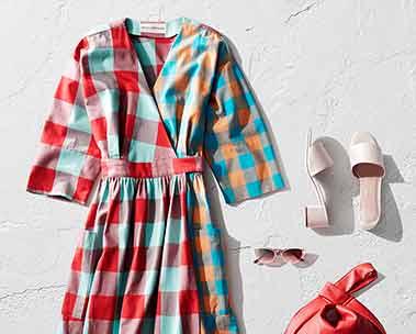 Colorful printed dresses