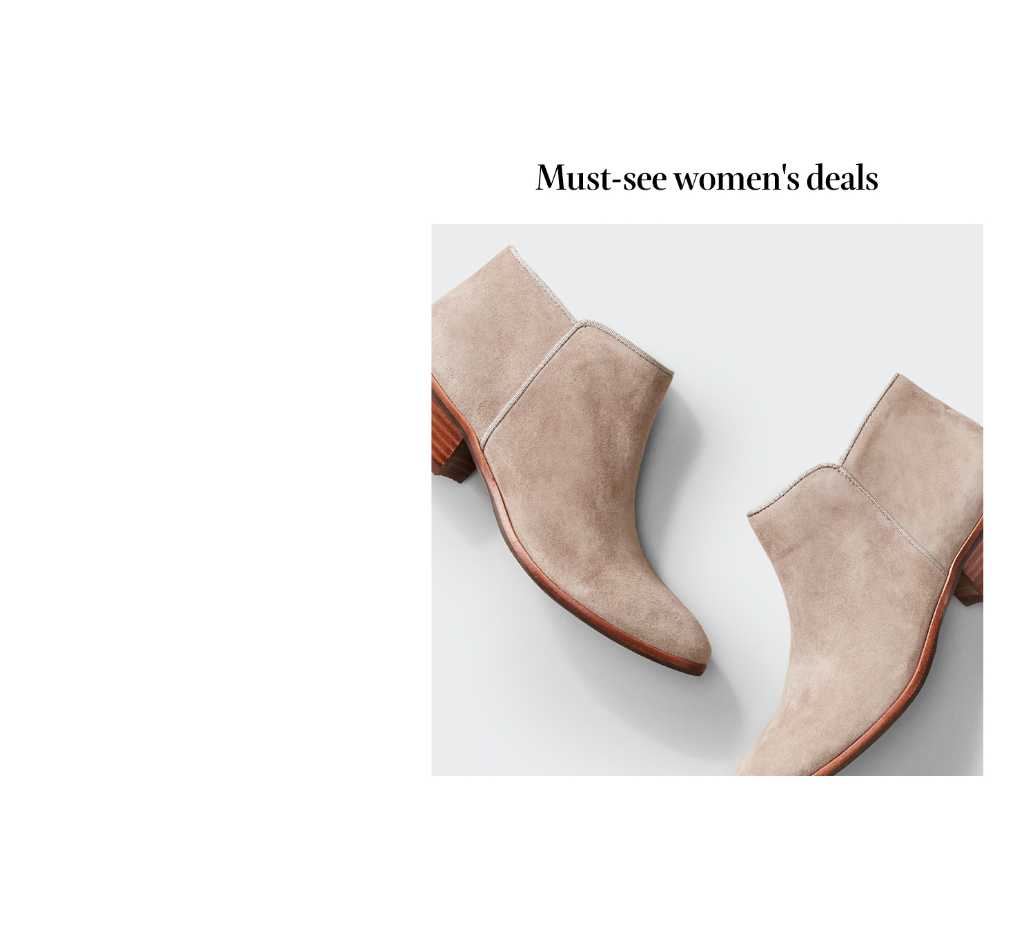 Must-see women's deals