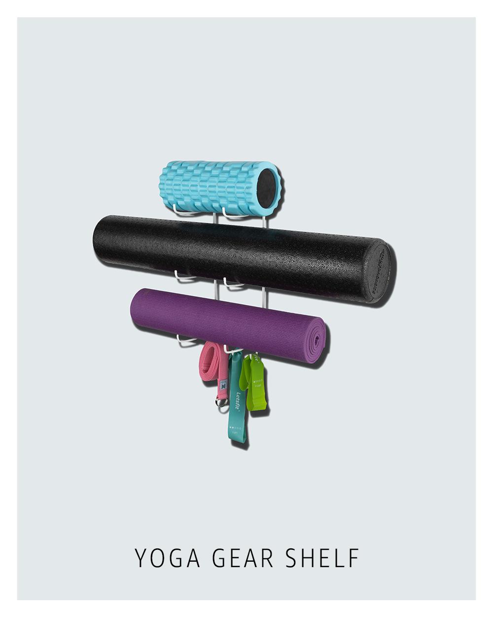 Yoga gear shelf