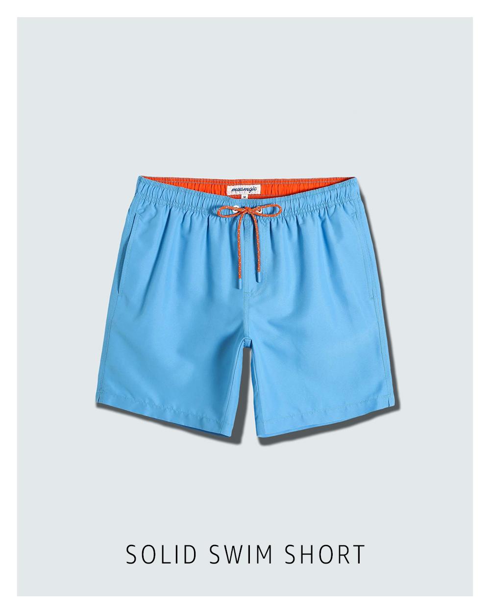 Solid swim short