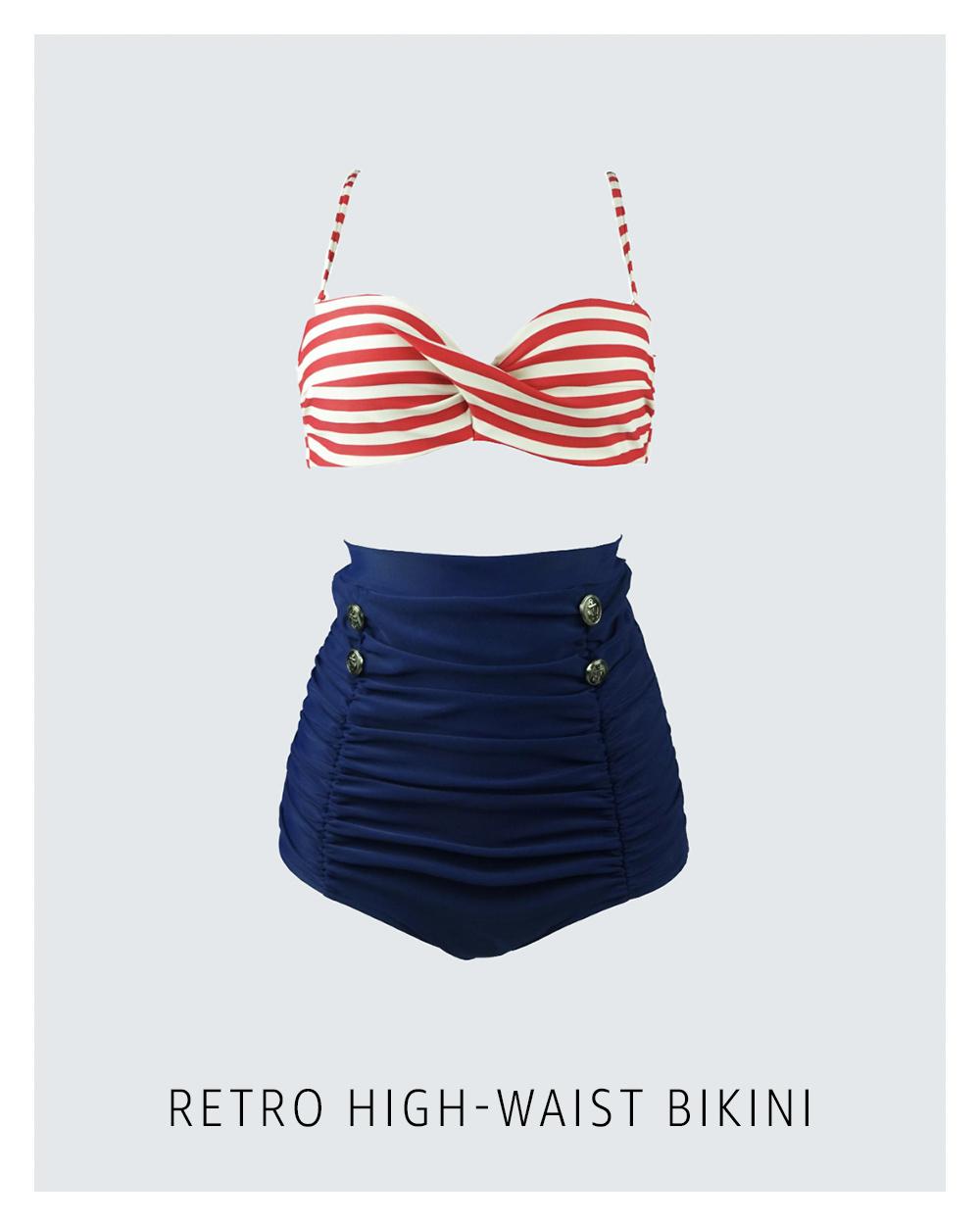 Vintage-style bikini