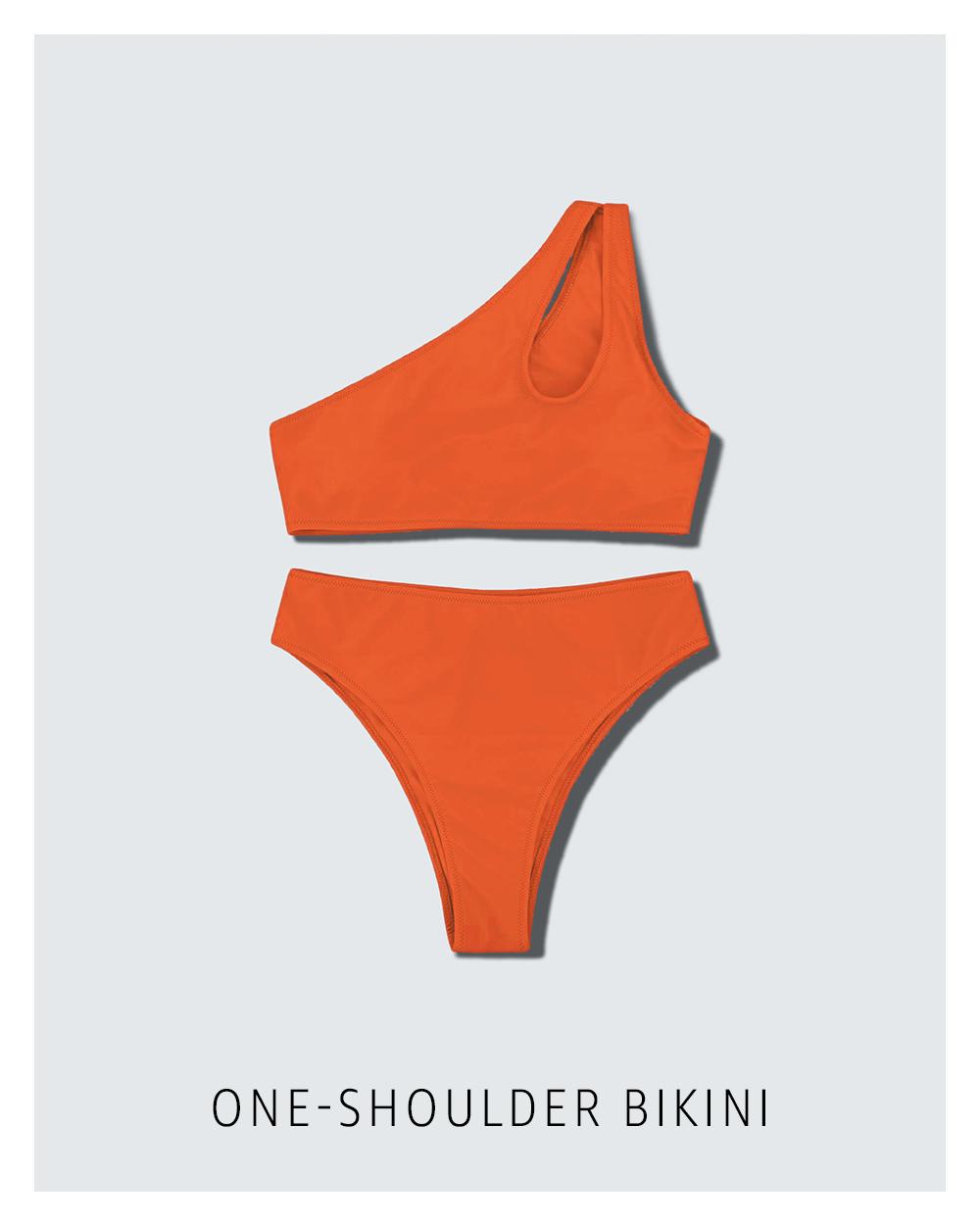 One-shoulder bikini