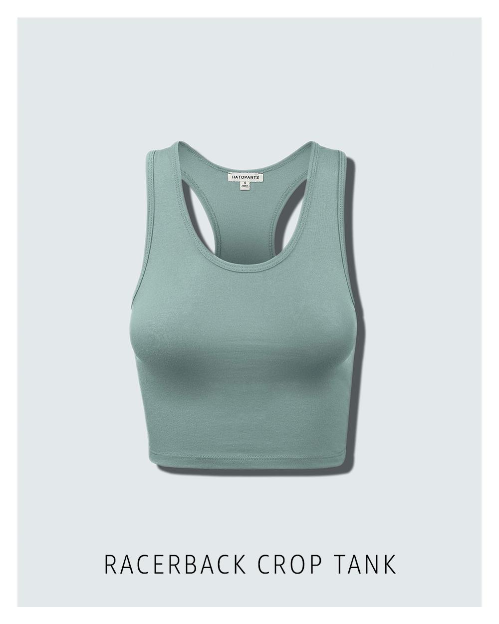 Racerback crop tank