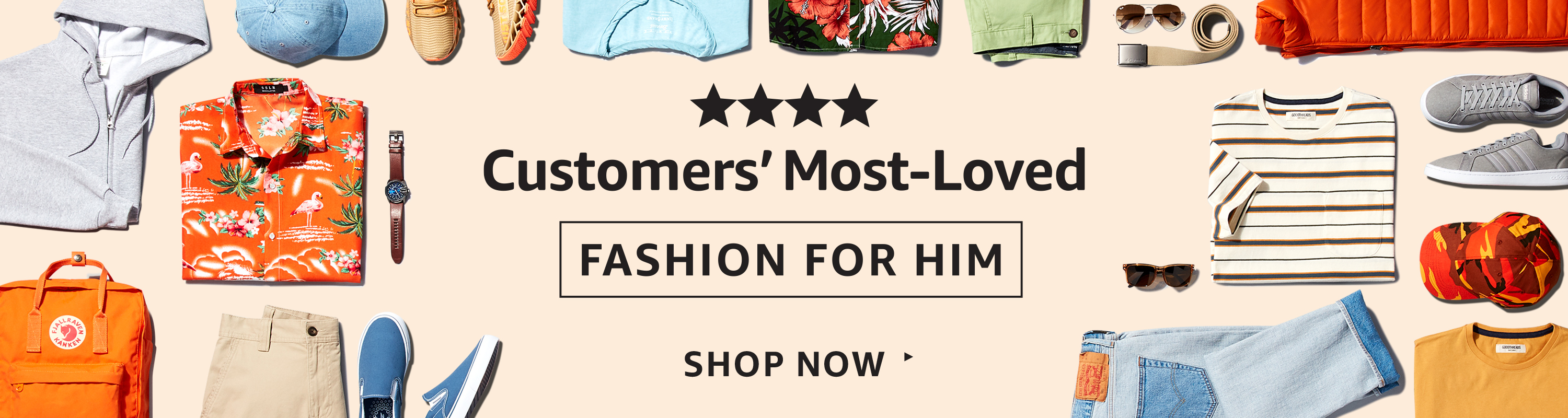 Customers' Most-Loved Fashion for Him