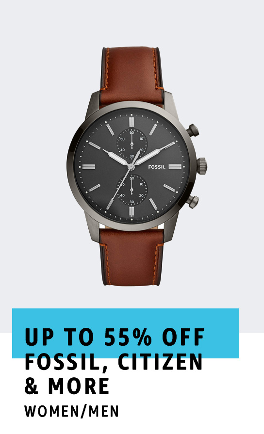 Up to 55% off Watches from Fossil, Citizen, Invicta,and more