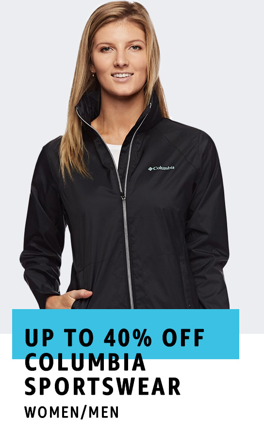 Up to 40% off Columbia Sportswear