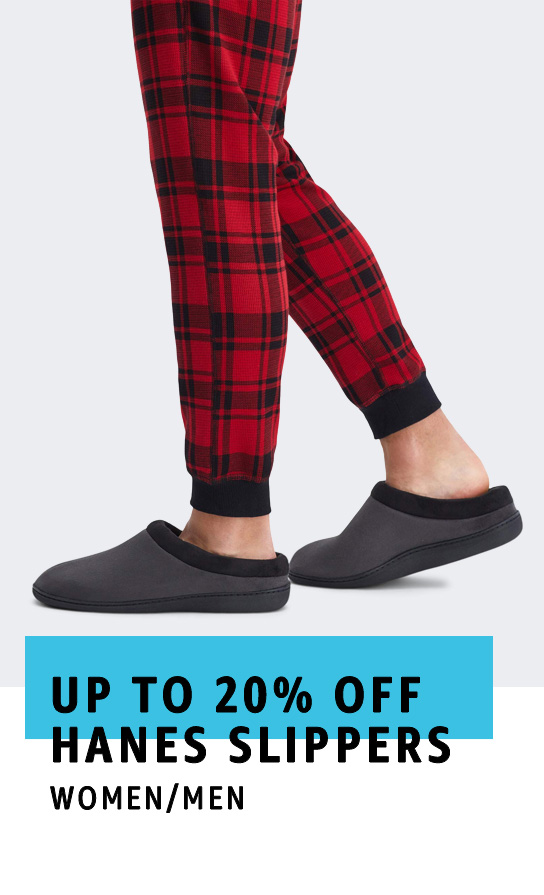 Up to 20% off Hanes Slippers