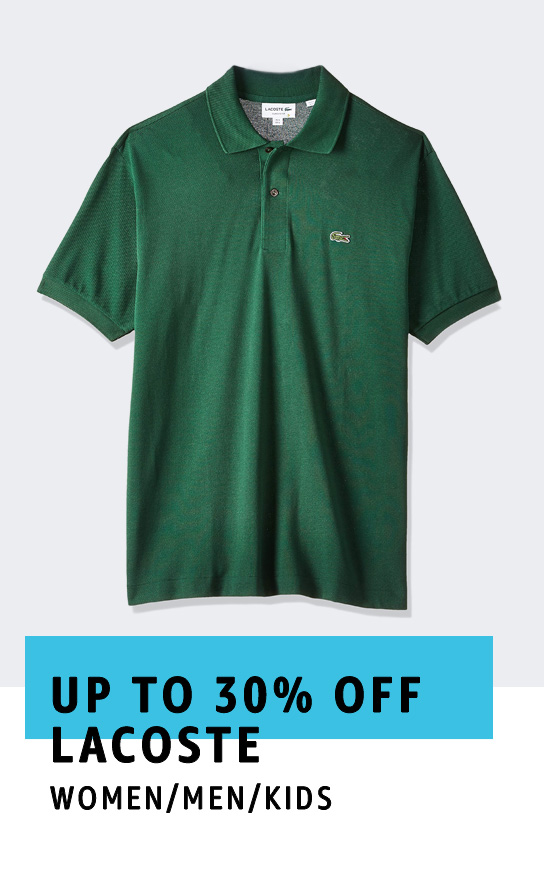 Up to 30% off Lacoste
