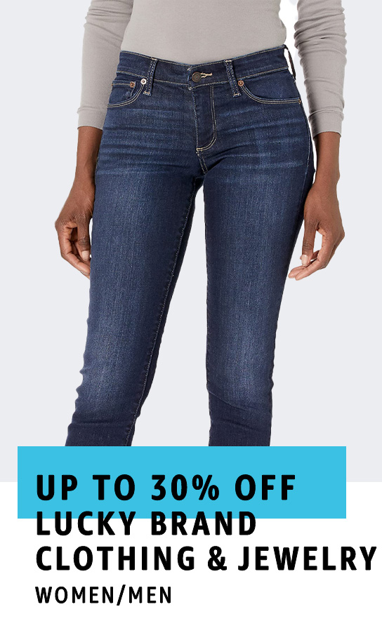 Up to 30% off Lucky Brand Clothing & Jewelry