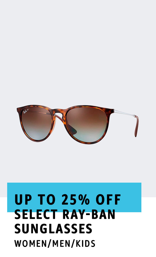 Up to 25% off select Ray-Ban sunglasses
