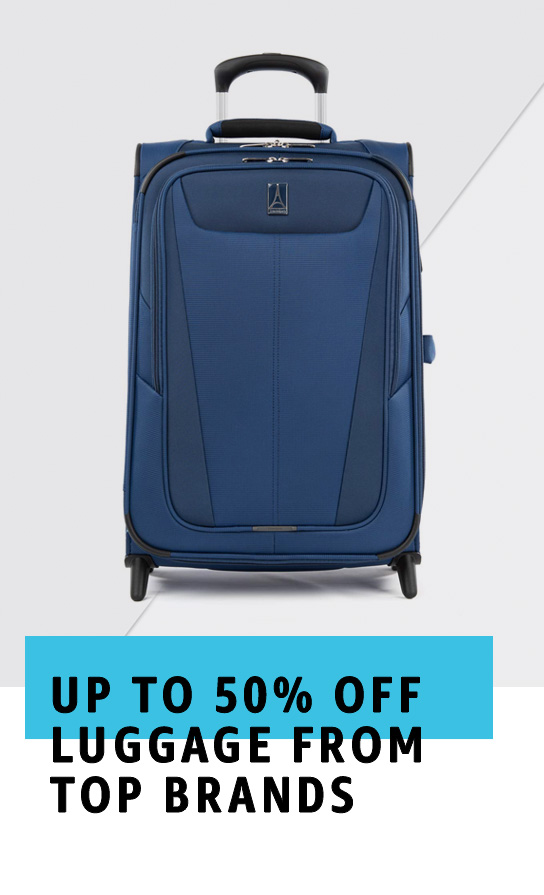 Up to 50% Off Luggage from top brands