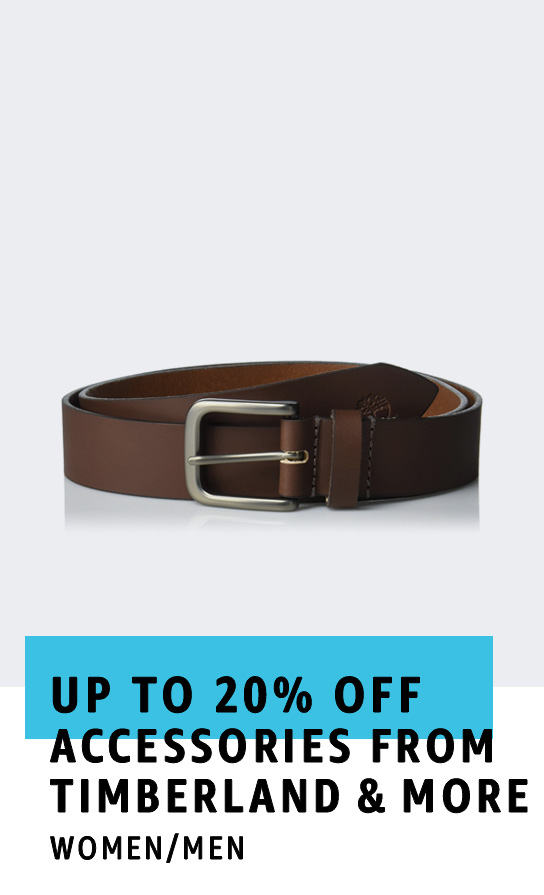 Up to 20% off accessories from Timberland & more