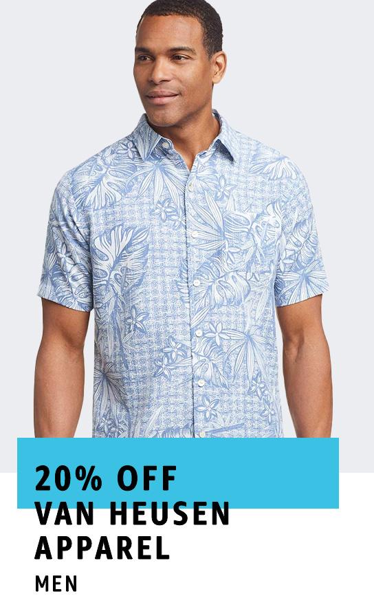 20% off Van Heusen apparel