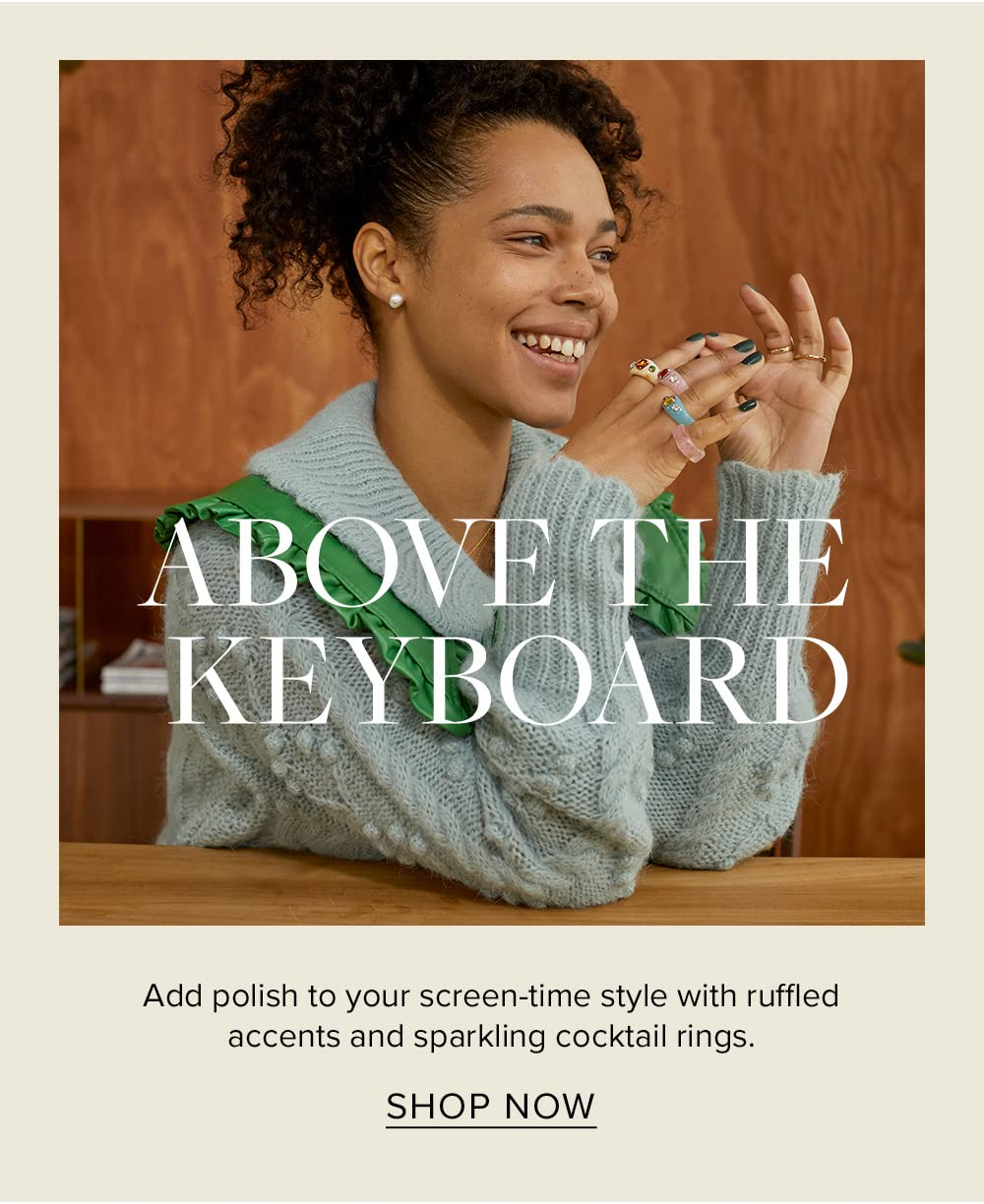 Above the keyboard style