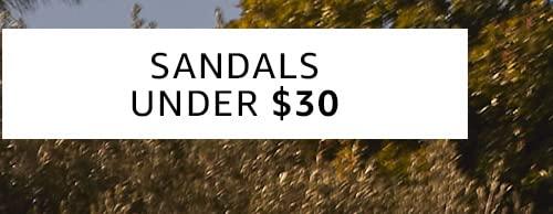 Sandals under $30