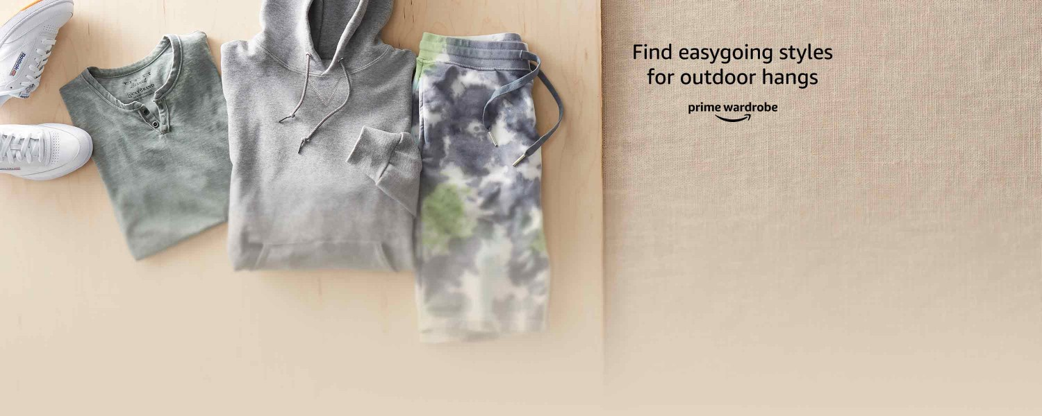 Find easygoing styles for outdoor hangs Prime Wardrobe