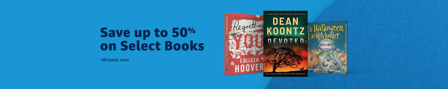 Save up to 50% on Select Books in October