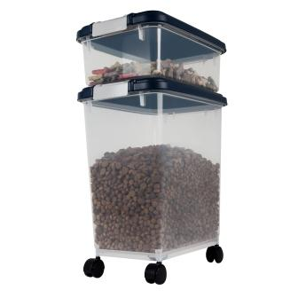 Pet Supplies IRIS Airtight Pet Food Treat Storage Container Combo