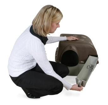 Omega Paw Self-Cleaning Litter Box, Regular, Taupe Omega How To Step 3