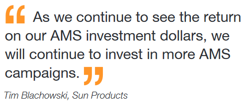 Quote from Tim Blachowski of Sun Products