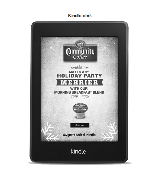 Community Coffee on Kindle Elink