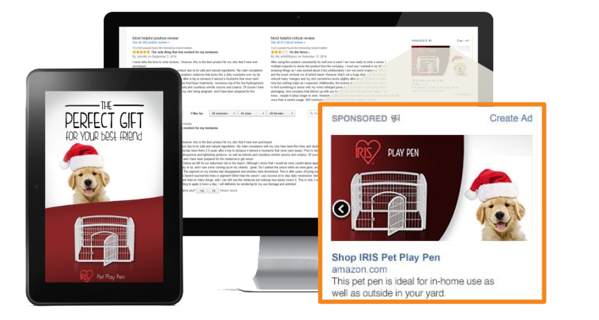 IRIS USA Amazon Banner Ad and Kindle Ad Examples