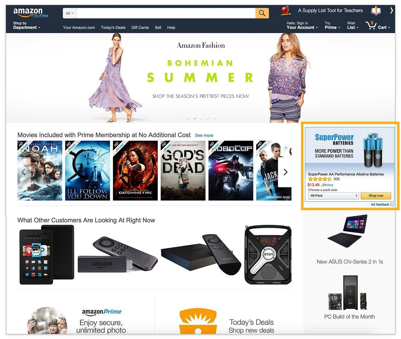 amazon ecommerce ads amazon advertising