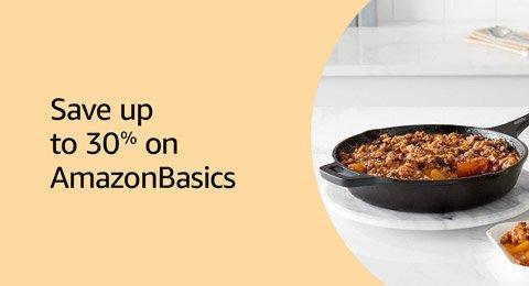 Save up to 30% on AmazonBasics