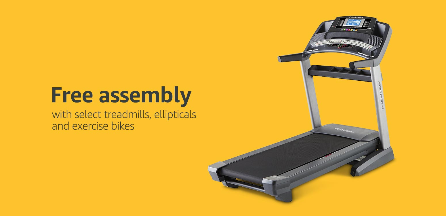 Free Assembly with select treadmills, ellipticals & exercise bikes*