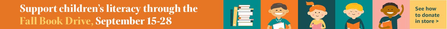 Support children's literacy through the fall book drive