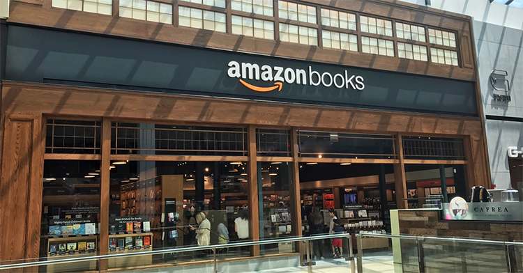 Amazon Books at Garden State Plaza in Paramus, New Jersey