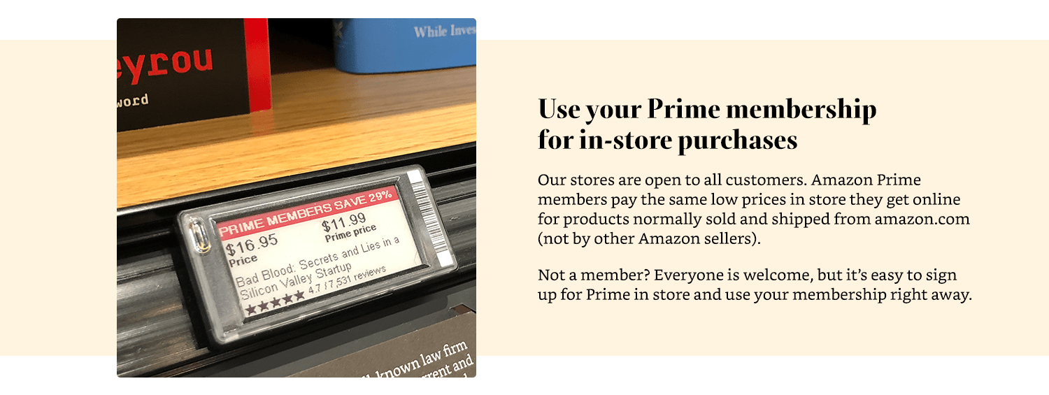 Use your Prime membership for in-store purchases