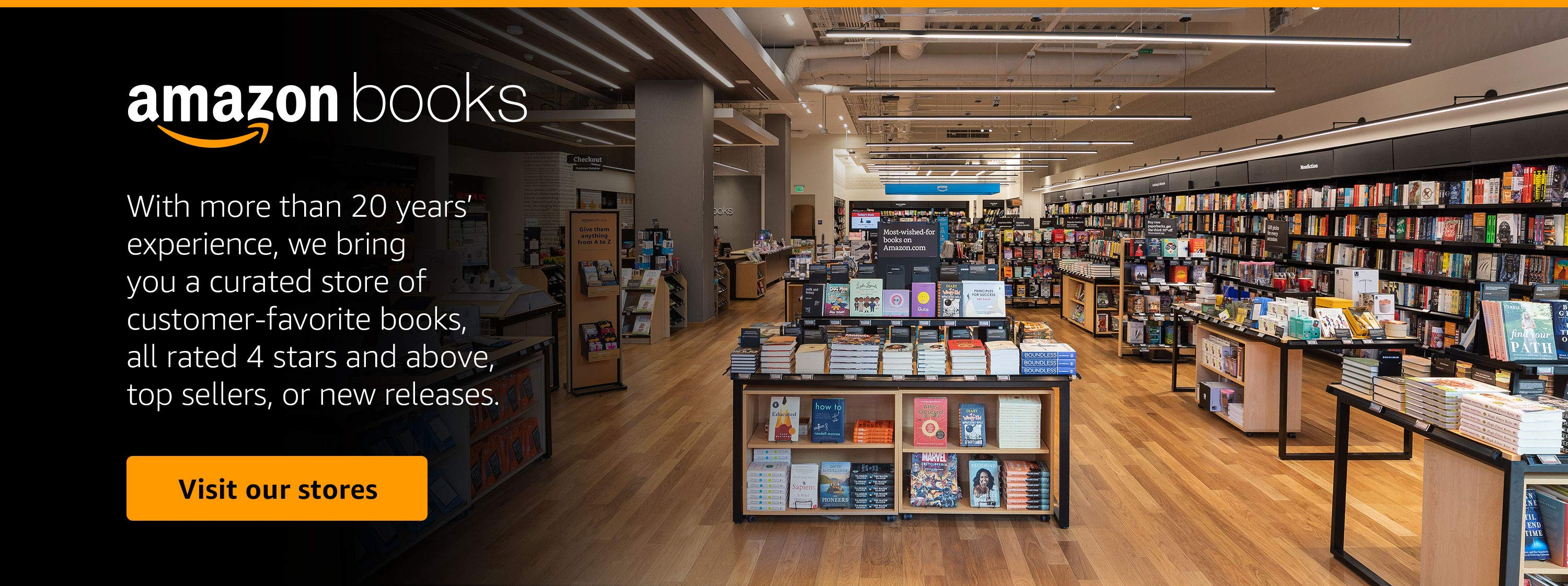 a curated store of customer favorite books