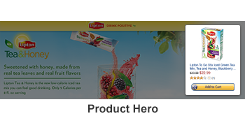 Example hero: Product