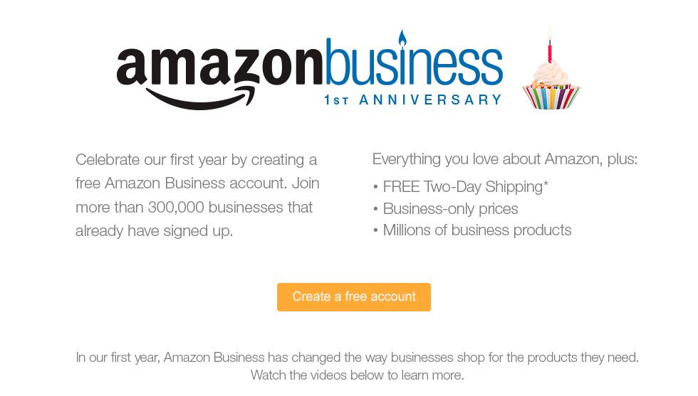 amazon com amazon business 1st anniversary