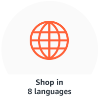 Shop in 8 different languages
