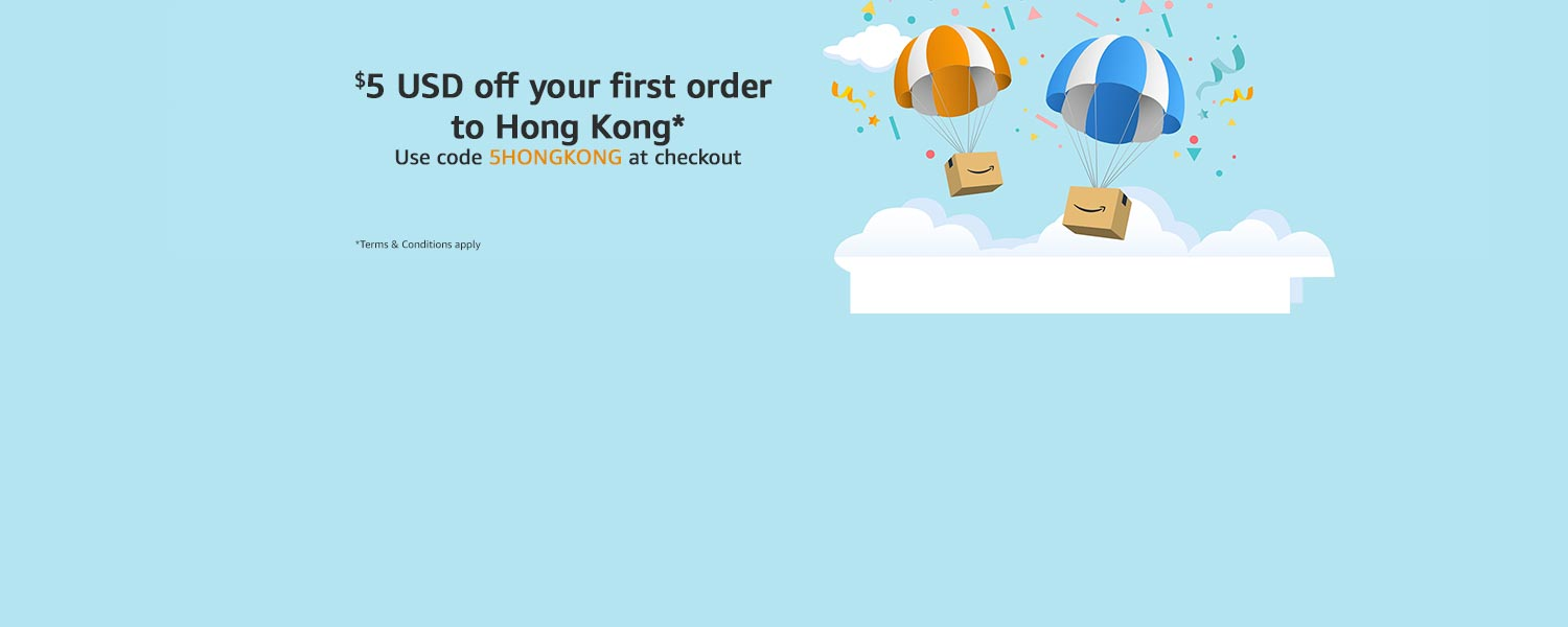 $5 USD off your first order to Hong Kong