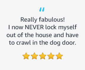 It allows my pet sitter and friends access to my house without a problem