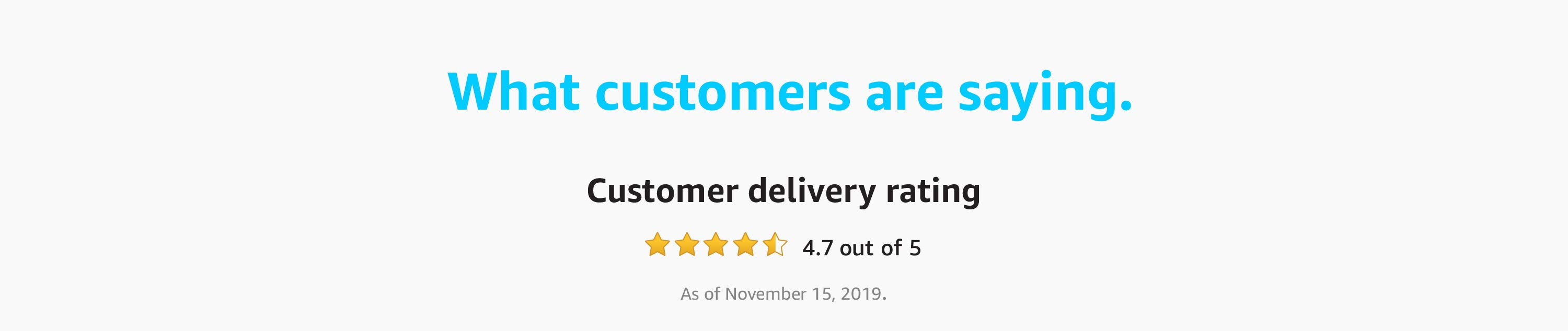 What customers are saying.