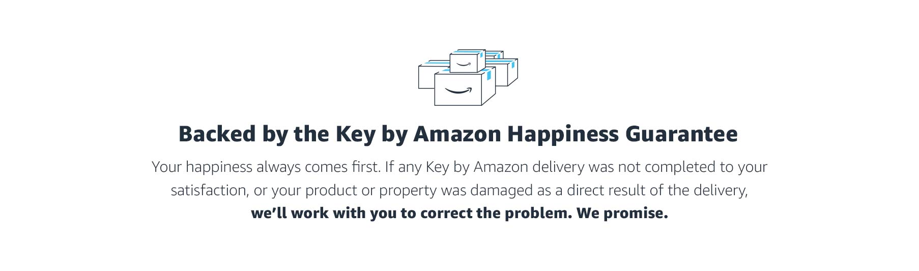 Backed by the Key by Amazon Happiness Guarantee
