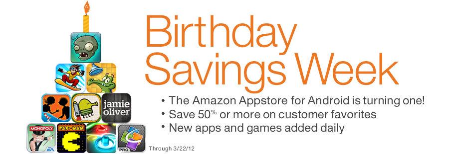 Amazon Appstore Birthday Savings Week