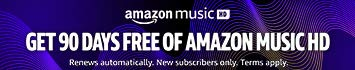 Get 90 days free for Amazon Music HD
