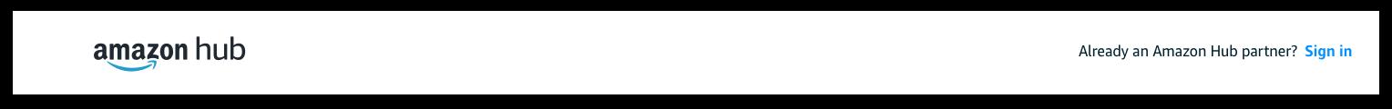 Amazon Hub Logo. Already an Amazon Hub Partner? Sign In Button.